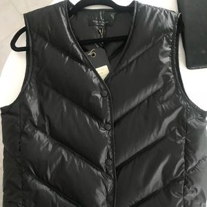 RAG & BONE black quilted puffer vest
